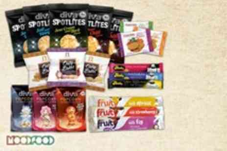 Mood Food Company - Noughty Nibbles office snack pack including 20 snacks under 99 calories each - Save 55%