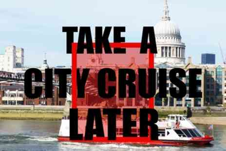 City Cruises - Child or Adult 24 Hour Ticket River Red Rover Cruise - Save 59%
