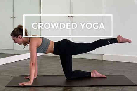 Crowded Yoga - Three month online yoga class subscription - Save 93%