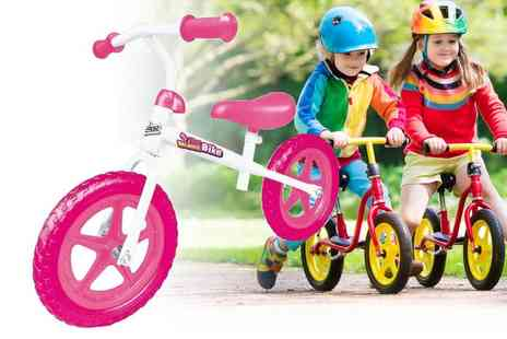 Gift and Gadget - White and pink balance bike - Save 0%