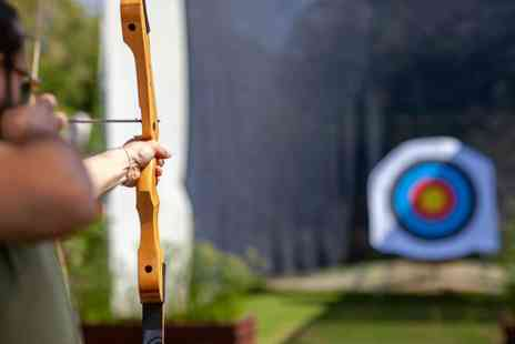 Moving Mountains Outdoor Skills Education - Two hour axe throwing and archery session for two people - Save 56%