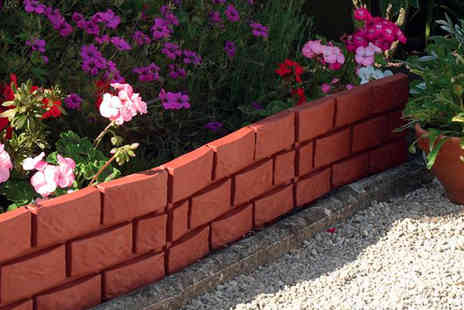 Easylife - Pack of four brick effect garden border panels - Save 50%
