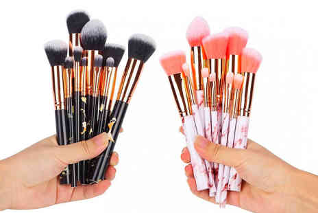 Shanghai Zhengxiang QicheZuling - 10pc marble effect makeup brush set - Save 55%
