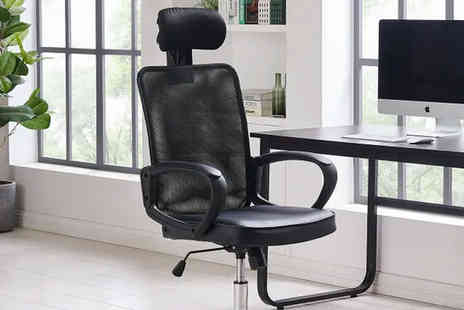 UK Furniture Zone - Mesh and PU swivel office chair - Save 0%