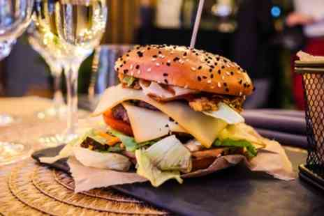 Jolly Gin and Craft - Burger with Wine or Beer for One or Two - Save 38%