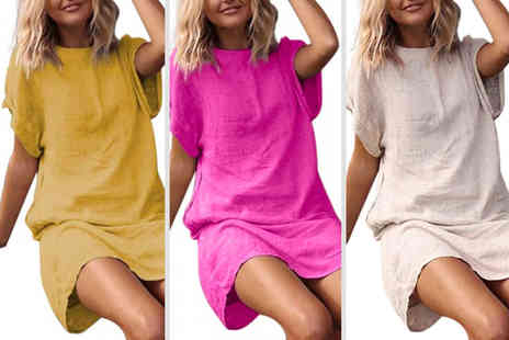 YelloGoods - Womens short sleeve loose dress - Save 0%