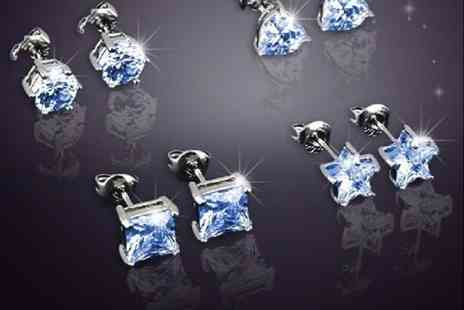 Evoked Design - Set of 4 crystal earrings - Save 94%