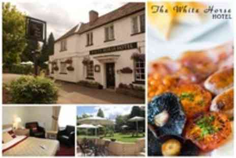 The White Horse Hotel - In Hertfordshire One Night Stay For Two With Three Course Dinner and Breakfast - Save 68%