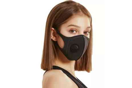 Groupon Goods Global GmbH - Up to Ten Face Masks with Breathing Valve - Save 0%