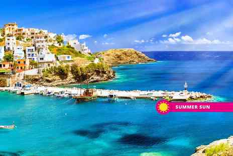 Super Escapes Travel - Seven nights all inclusive Crete holiday with return flights - Save 34%