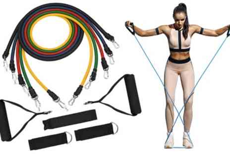 Groupon Goods Global GmbH - Tora Fitness 11 Piece Resistance Band Sets - Save 84%