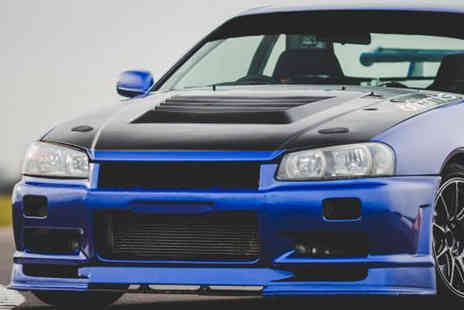 Drift Limits - 14 lap Nissan R34 Skyline driving experience - Save 50%