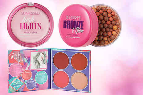 Wowcher Direct - Sunkissed makeup bundle including bronzer highlights and contour palette - Save 36%