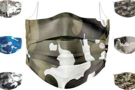 Groupon Goods Global GmbH - Camouflage Cotton Fashion Face Mask - Save 0%