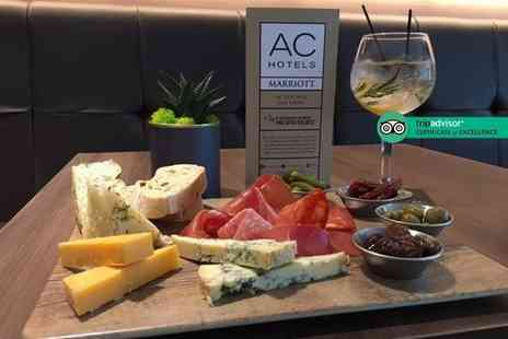 AC Hotel by Marriott Manchester Salford Quays - Six gin drinks with mixers plus a sharing platter for two people - Save 74%