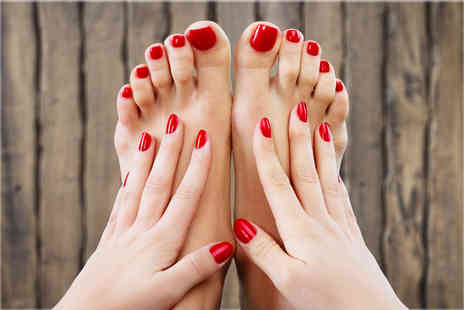 RK Parlour Boutique & Beauty Clinic - Choice of a manicure or pedicure with polish - Save 44%