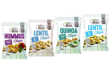 LAKSHMI & SONS - 15 packs of Eat Real healthy crisp snacks, including tomato basil - Save 0%