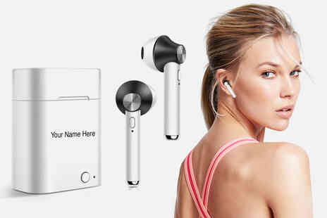Magic Trend - Pair of personalised wireless Bluetooth earbuds - Save 80%