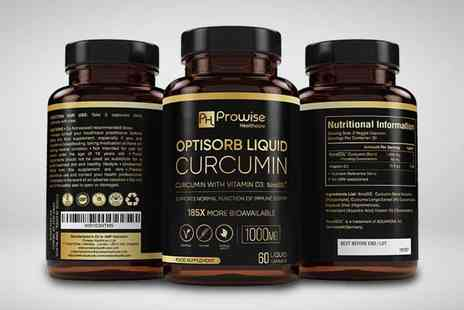 Prowise Healthcare - One month supply of liquid curcumin capsules - Save 0%