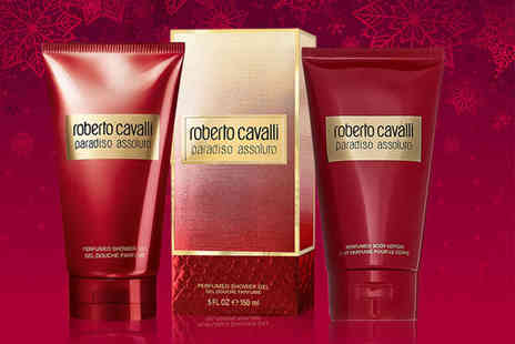 Wowcher Direct - Bottle of Roberto Cavalli Paradiso Assoluto shower gel or body lotion - Save 25%
