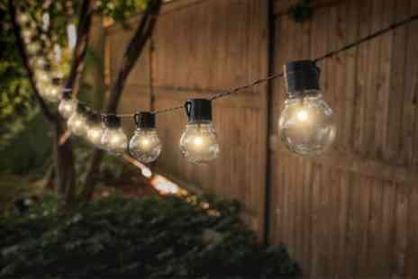 Groupon Goods Global GmbH - Four Sets of Globrite Solar Powered Retro Style Bulb String Lights - Save 0%