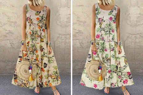 Domo Secret - Floral summer maxi dress - Save 63%