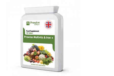 Prowise - Six month supply of multivits and iron plus supplements - Save 0%