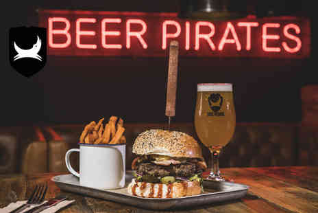 BrewDog - Burger and fries with a schooner of Headliner beer for one person - Save 48%