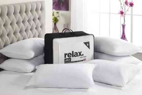 Groupon Goods Global GmbH - 6 Relax Bounce Back Pillows - Save 0%
