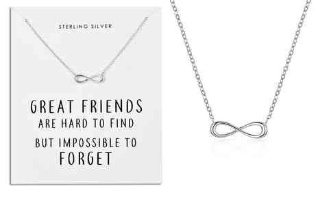 Silver Supermarket - Philip Jones sterling silver Infinity Friendship necklace - Save 0%