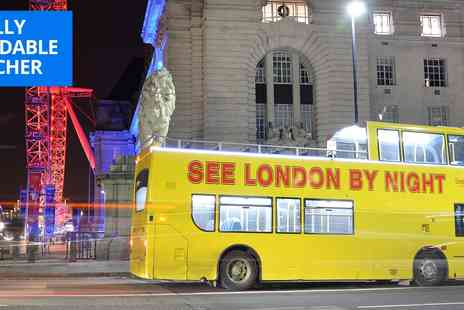 See London by Night - 90 minute open top bus tour with guide - Save 38%