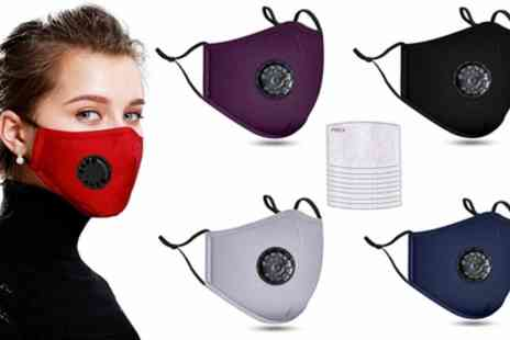 Groupon Goods Global GmbH - Reusable Face Mask with 10 Filters - Save 0%