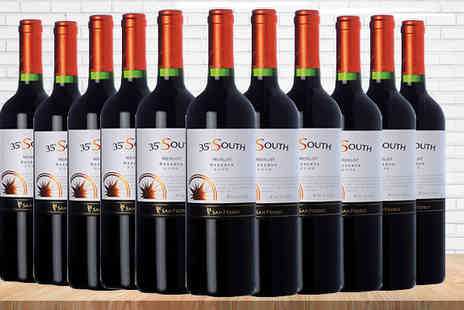 Great Western Wine - 6 or 12 Bottles of 35 South Merlot 18 Wine - Save 22%