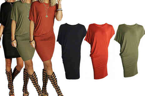YelloGoods - Black, red or green women's loose summer dress - Save 70%