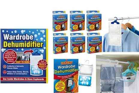 London Exchain Store - Six hanging wardrobe dehumidifiers - Save 73%