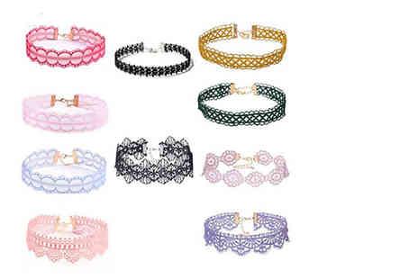 London Exchain Store - 10pc colourful choker set - Save 86%