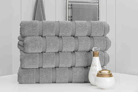 Bliss Home Living - Four luxury bath sheets - Save 0%