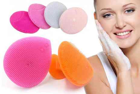 hey4beauty - Two silica gel face scrubbers - Save 0%