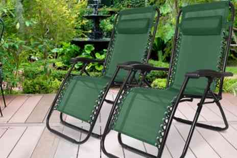 Groupon Goods Global GmbH - One or Two Humlin Zero Gravity Folding Chairs - Save 0%