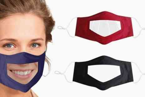 Groupon Goods Global GmbH - One Three or Six Face Mask with Transparent Panel - Save 0%