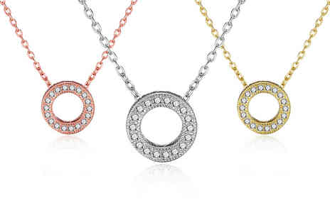 Silver Supermarket - Philip Jones Circle of Life necklace created with Swarovski - Save 0%