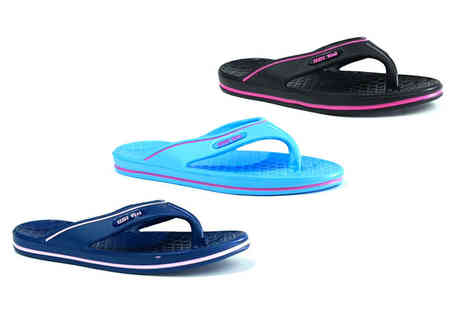 Shoe Fest - Pair of black, navy or turquoise flip flops - Save 0%