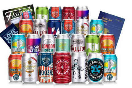 Flavourly - Craft beer box including 24 beers, a beer book, snack and magazine - Save 68%