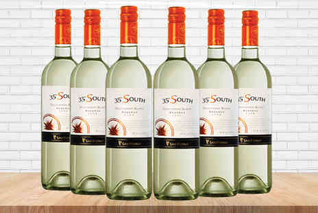 Great Western Wine - 6 or 12 Bottles of 35 South Sauvignon Blanc Wine - Save 22%