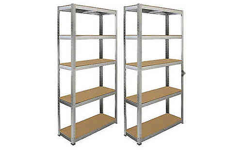 Direct 2 public - 5 Tier Heavy Duty Metal Shelving Units - Save 78%