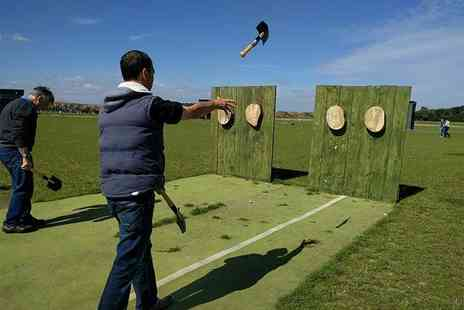 Activity Centre Blyth - One hour axe and knife throwing experience for two people - Save 59%