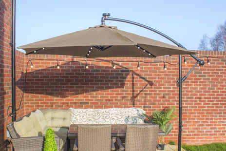 Expressco Direct - Garden parasol with lights - Save 60%