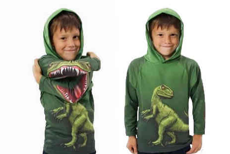 Magic Trend - Kids dinosaur print jumper in age sizes 2-7 years - Save 80%