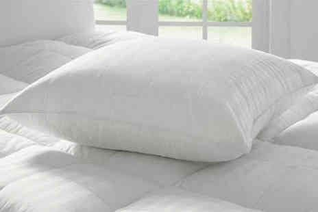 Direct Warehouse - Set of two European style square pillows - Save 50%