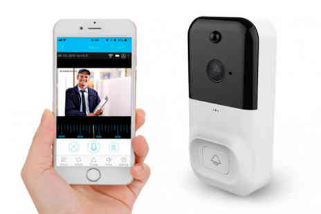 MBLogic - Wireless camera doorbell in black or white - Save 0%